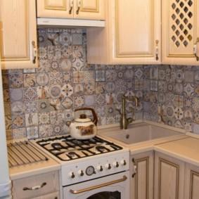 Tablier de cuisine carreaux patchwork