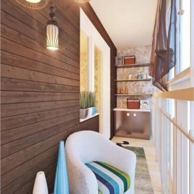 Conception de balcon avec revêtement en bois