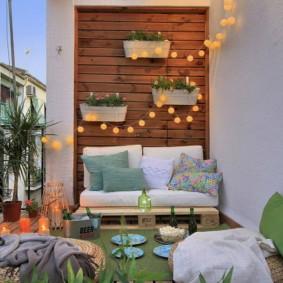 Balcon pour un rendez-vous romantique