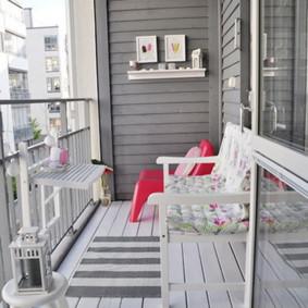 Balcon ouvert au sol