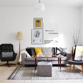 Style scandinave à l'intérieur de l'appartement