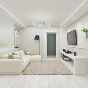 Conception d'une petite pièce en blanc