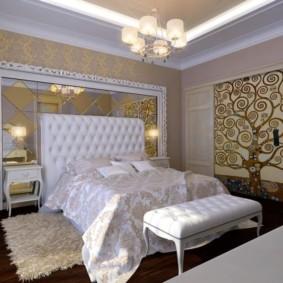Éclairage d'une chambre avec un lustre