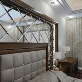 Tête de lit déco avec carrelage miroir