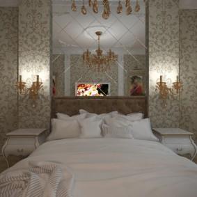 Papier peint classique dans la chambre