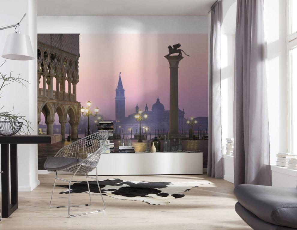 Papiers peints à l'intérieur d'une salle moderne