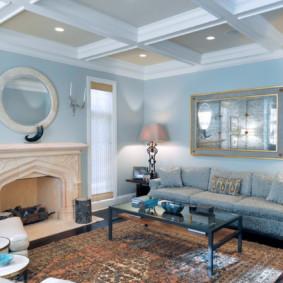 ý tưởng thiết kế phòng khách màu sáng
