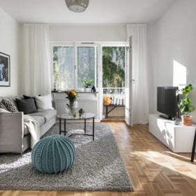 trang trí hình ảnh phòng khách màu sáng