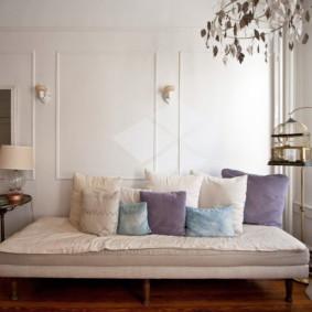phòng khách màu sắc tươi sáng nội thất