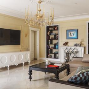phòng khách trong màu sắc tươi sáng ý tưởng trang trí