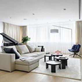 lựa chọn phòng khách màu sáng