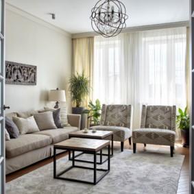 ý tưởng phòng khách màu sáng