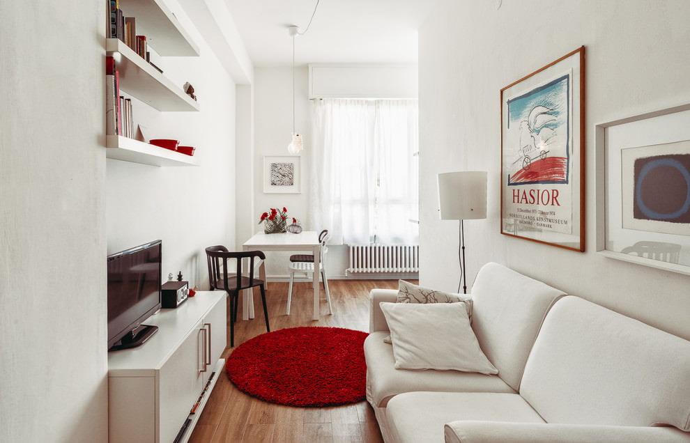 phòng khách trong thiết kế màu sắc tươi sáng