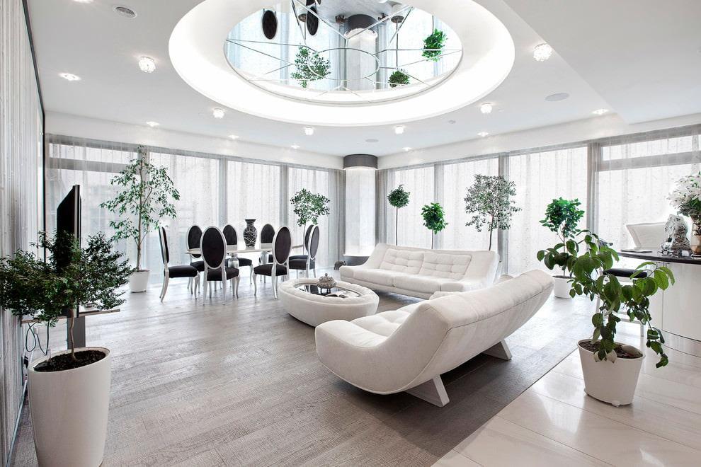 trần phòng khách màu sáng