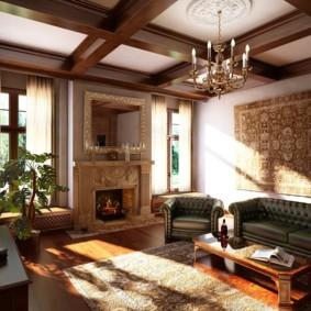 Intérieur de salon de style anglais