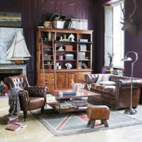 Intérieur de photo de salon de style anglais