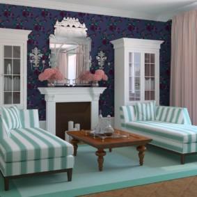Idées intérieures de salon de style anglais
