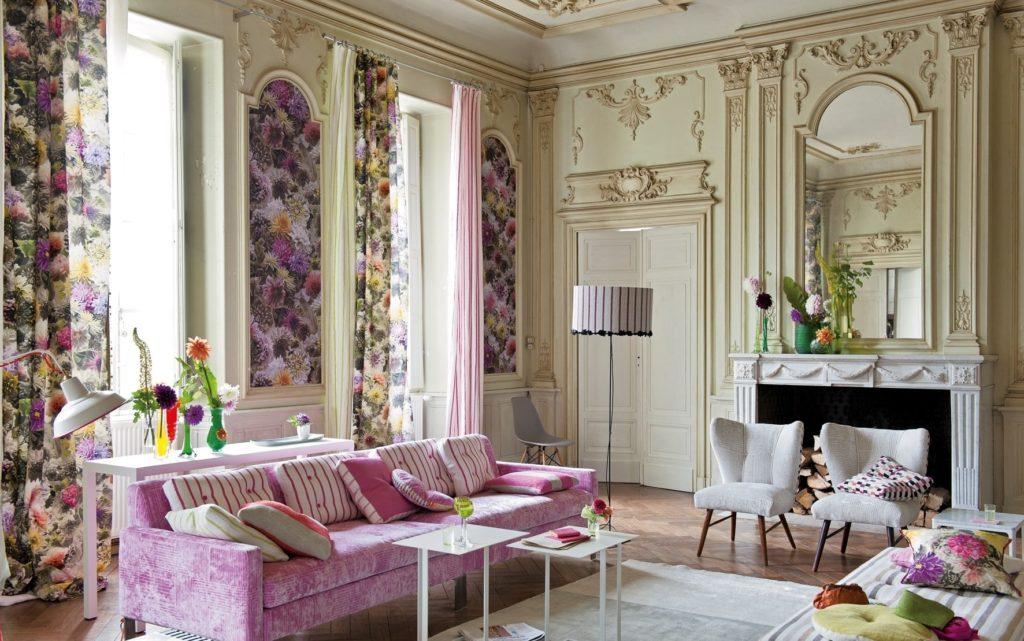 Photo de décoration de salon de style anglais