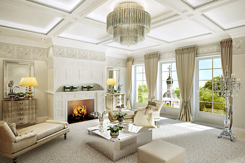 ý tưởng hình ảnh phòng khách cổ điển