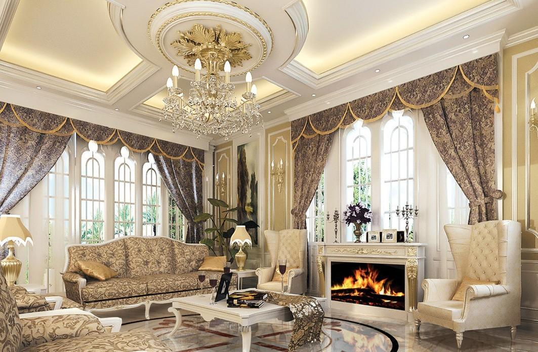 ảnh phòng khách theo phong cách cổ điển