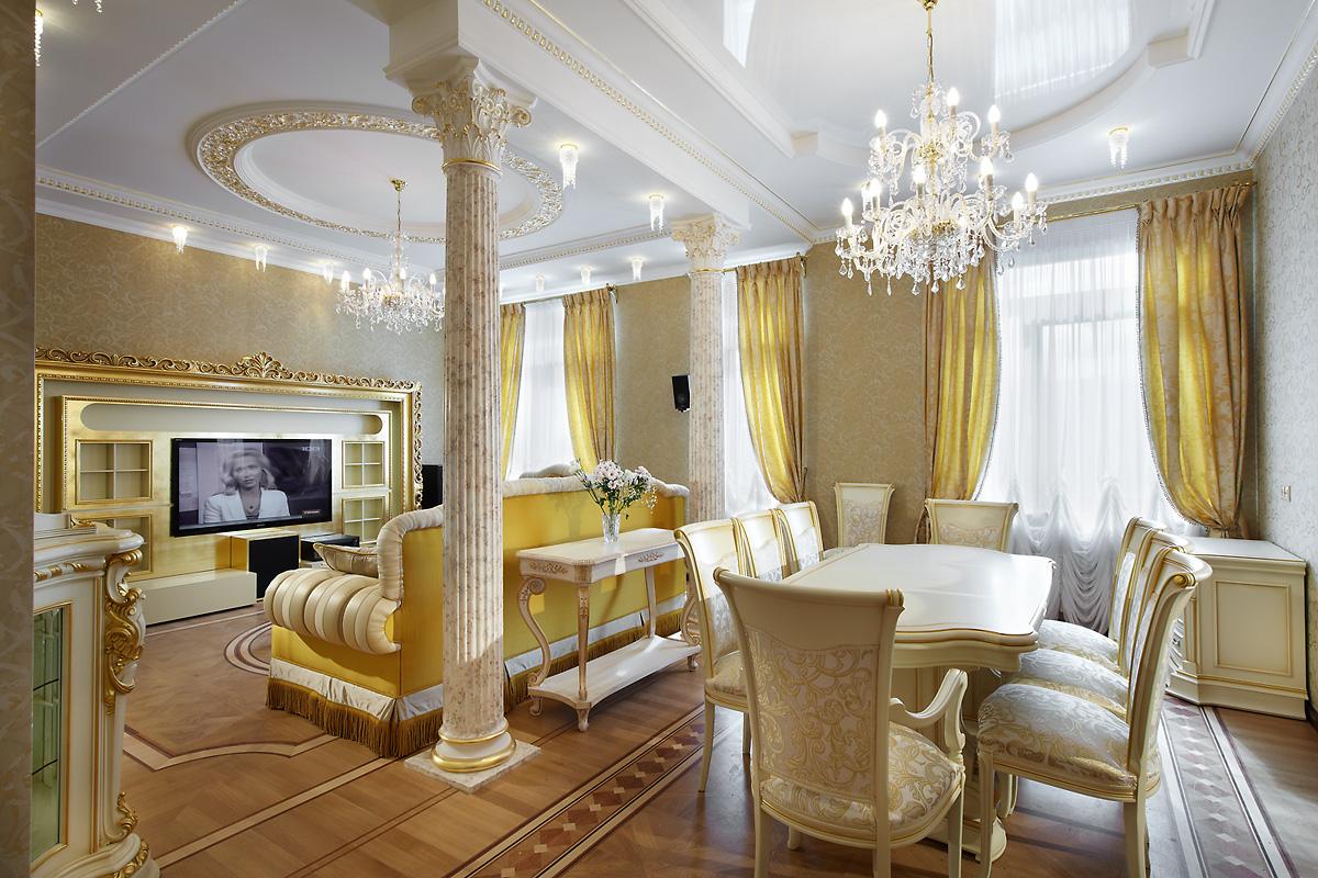 phòng khách phong cách cổ điển hình ảnh đẹp