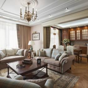 phong cách cổ điển phòng khách ảnh nội thất