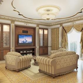 ý tưởng thiết kế phòng khách theo phong cách cổ điển