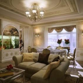 phong cách cổ điển trang trí phòng khách ảnh