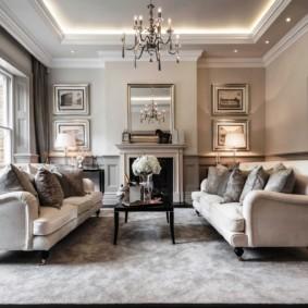 ý tưởng phòng khách theo phong cách cổ điển