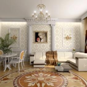 ý tưởng trang trí phòng khách phong cách cổ điển