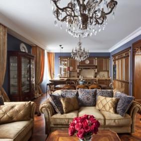 thiết kế ảnh phòng khách theo phong cách cổ điển