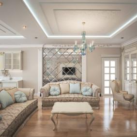 ý tưởng phòng khách phong cách cổ điển