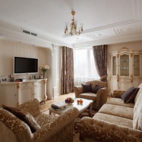 phong cách cổ điển phòng khách xem ảnh
