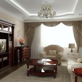 phong cách cổ điển xem phòng khách