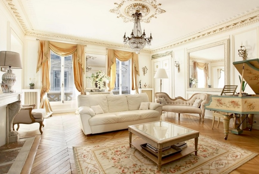 phòng khách ý tưởng phong cách cổ điển
