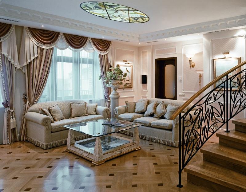 sàn phòng khách phong cách cổ điển