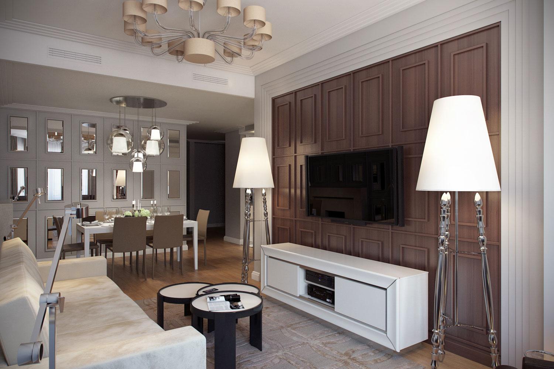 giải pháp nội thất phòng khách phong cách cổ điển