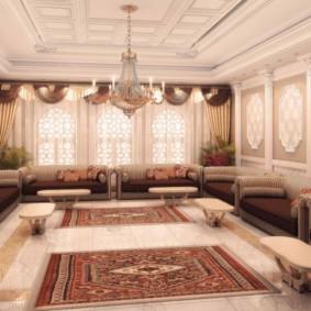 photo de décoration de salon de style oriental