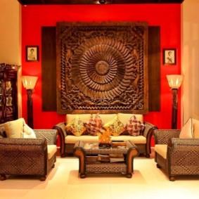 idées de conception de salon de style oriental