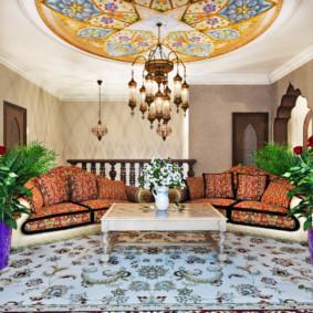 idées de décoration de salon de style oriental