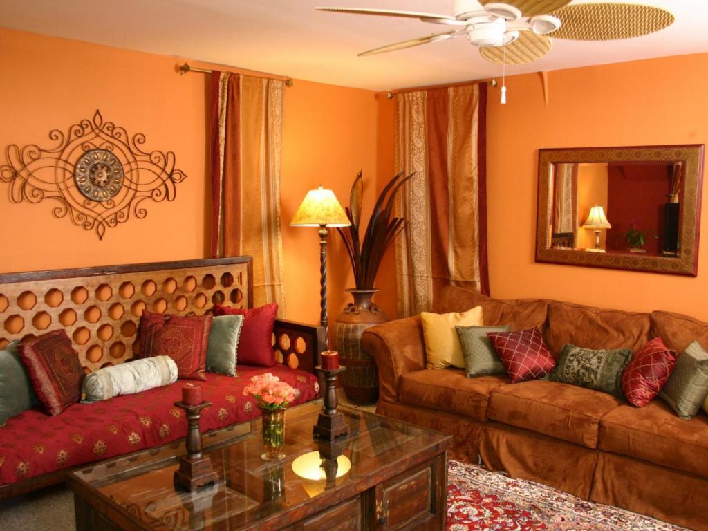 décoration de la chambre dans le style oriental