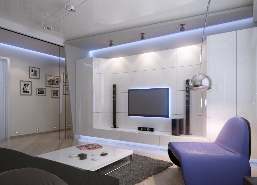 Salon lumineux de haute technologie
