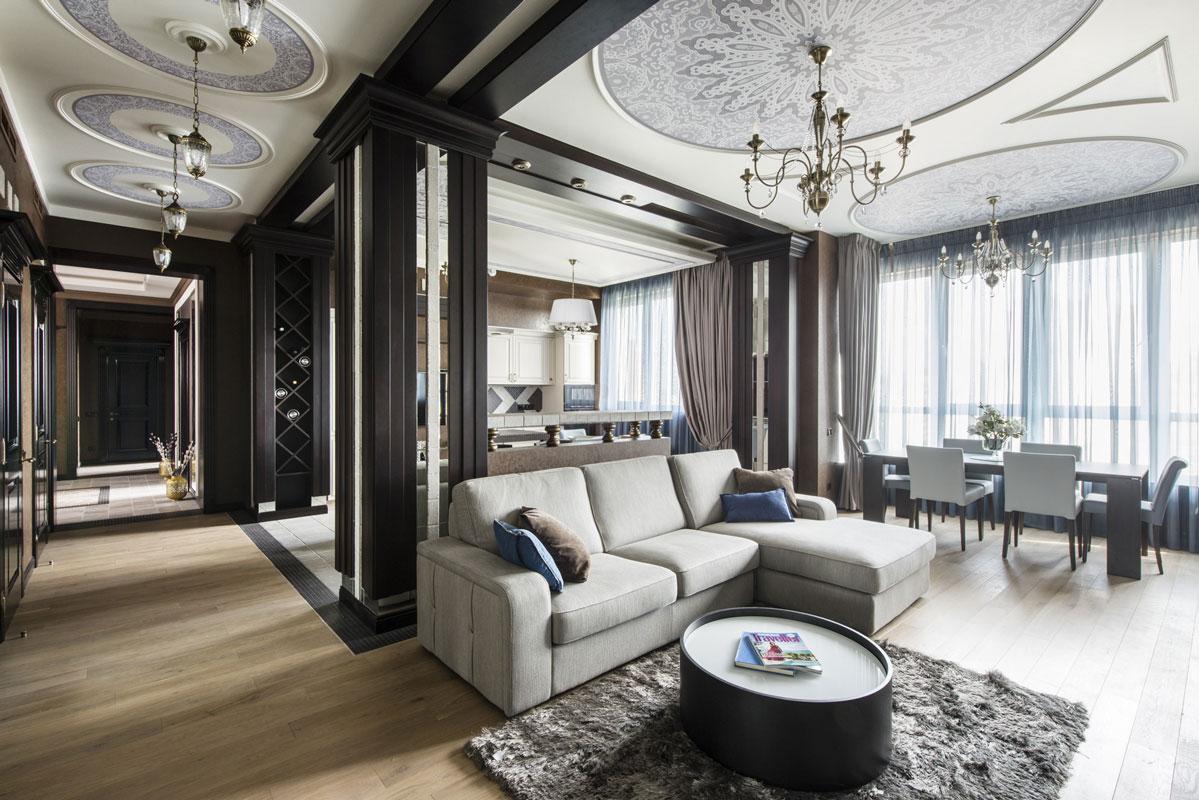 ý tưởng nội thất phòng khách cổ điển