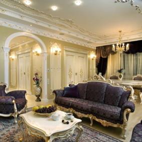 salon moderne dans l'appartement