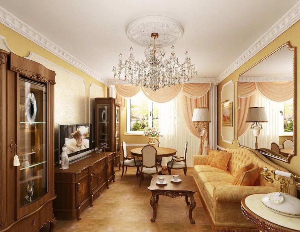 Conception de la salle 18 places dans le style des classiques