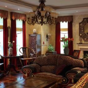 décoration de salon de style oriental