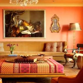 beau salon design dans un style oriental