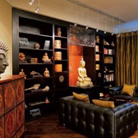 intérieur de la chambre de style oriental