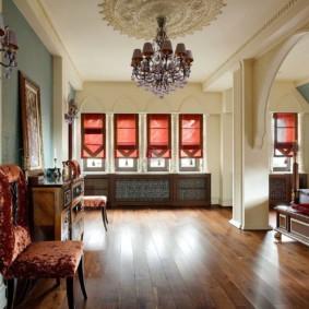 photo intérieure de la chambre de style oriental