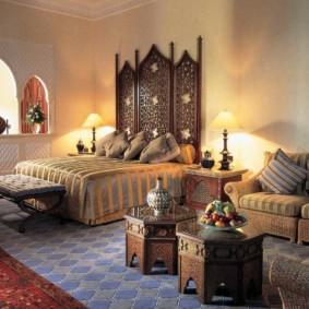 idées de photo d'intérieur de chambre de style oriental